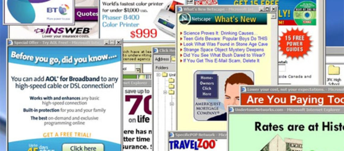Pop-Ups Ads and Other Types of Unwanted Software