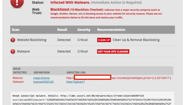 100 000 Sites WordPress touchées par Malware Mysterious