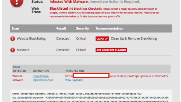 100 000 WordPress Sites Affected by Malware