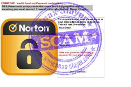Beware of a Fraudulent Email with the Norton Antivirus