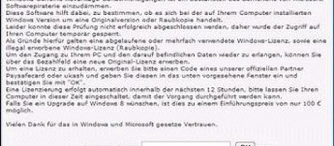 """Rimuovere """"Windows Genuine Advantage"""" ransomware? (Rimozione Guida)"""