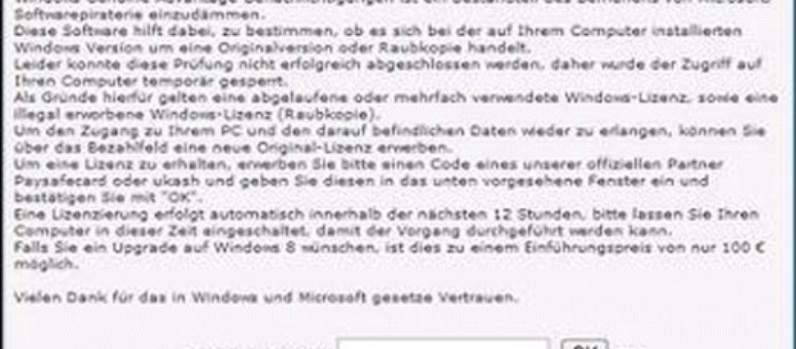 "Fjern ""Windows Genuine Advantage"" Ransomware? (Fjerning Guide)"
