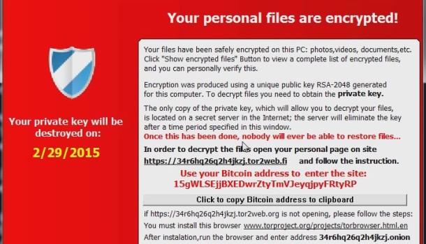 CryptoLocker-v3 Ransomware Treff Europa og USA