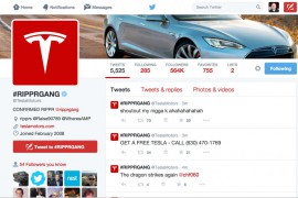Tesla Motors Twitter Account and Website Hacked