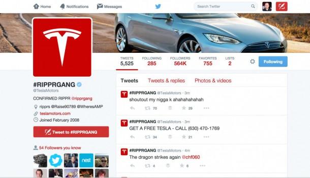Tesla Motors Twitter Account and Website Hacked