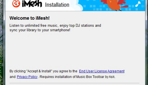 Remove iMesh Music Toolbar Permanently