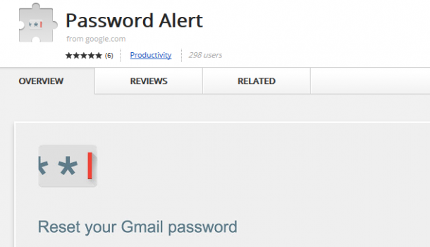 Password Alert Extension by Google Chrome to Guard From Phishing Attacks