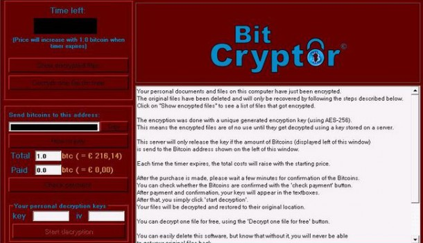Remove Bit Cryptor without paying the ransom