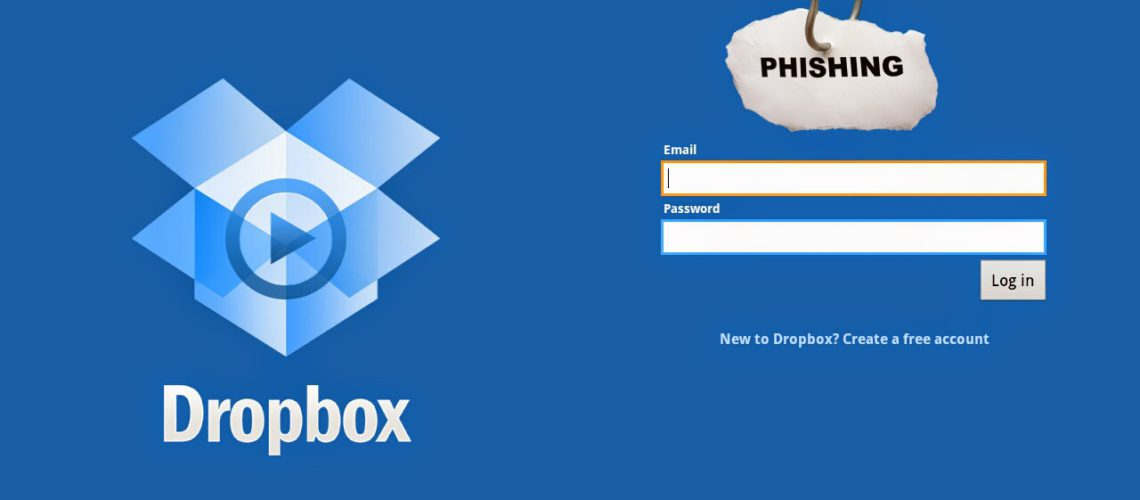 Nouveau Phishing Scam Implique l'application Dropbox