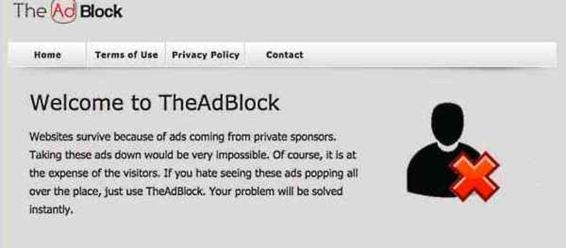 Theadblock does not block ads. Remove permanently
