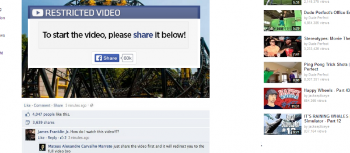 New Facebook Scam – Alton Towers Roller Coaster Crash
