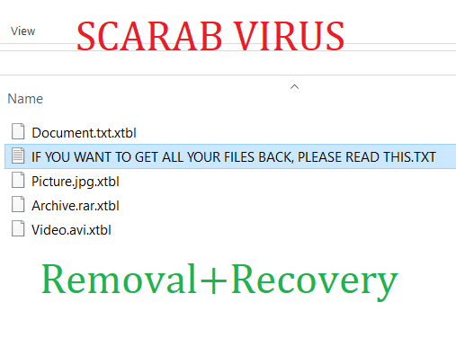 xtbl Files Virus (Scarab) – How to Remove It and Try to Decrypt